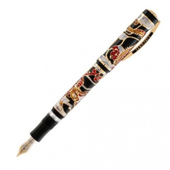 Ручка перьевая Visconti Dragon 2012 Limited Edition, Black and Red GT