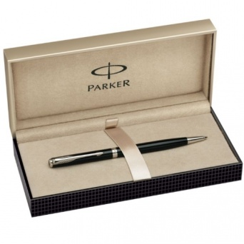 S0808840 Шариковая ручка Parker Sonnet Slim Lacquer Deep Black CT